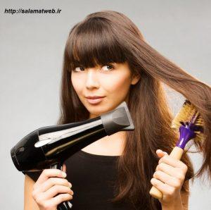 ریزش مو به علت دستکاری موها