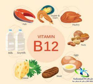 منابه غذایی حاوی ویتامین ب