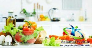 مصرف مواد غذایی سالم برای چاقی صورت