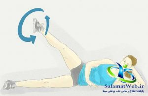 حرکت قیچی برای لاغر کردن پا