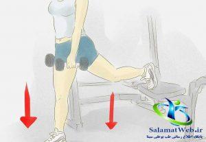 دمبل زدن برای لاغر کردن پا