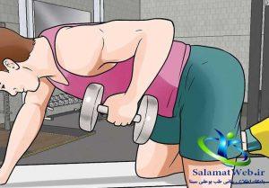 تمرینات قدرتی بری لاغر کردن سریع شکم و پهلو