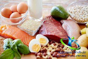 چاقی صورت با مصرف مواد پروتئینی