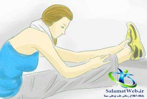 کشیدن عضلات برای لاغر کردن پا