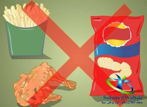 برای درمان سلولیت سراغ فست فودها نروید
