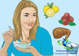 استفاده از مواد غذایی مفید برای کوچک کردن سینه