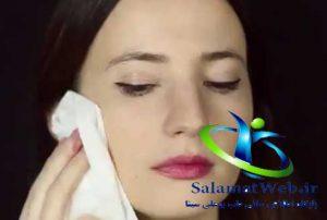 پاک کردن چربی پوست یکی از روش های کوچک کردن بینی بدون جراحی