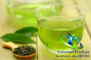 چای سبز روشن کننده پوست صورت