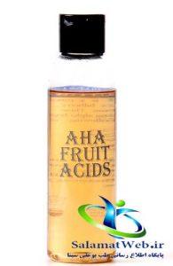 درمان چین و چروک با اسید میوه
