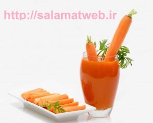 آب هویج و درمان سرفه