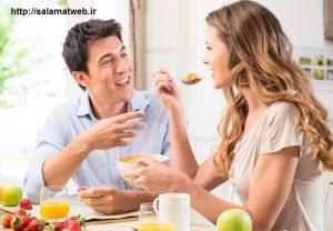 کاهش وزن با  عجله نکردن در هنگام خوردن غذا
