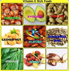 منابع غذایی حاوی ویتامین ای