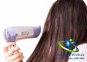عدم خشک کردن موها با سشوار