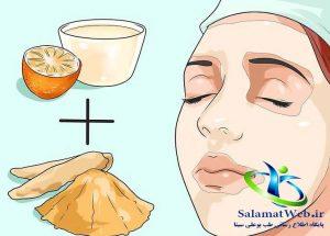 ماسک آب پرتقال و زردچوبه برای روشن نمودن رنگ پوست صورت و بدن