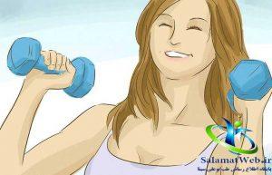 دمبل زدن برای افزایش سایز سینه