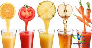 درخشان شدن پوست با آب میوه های طبیعی