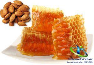 عسل و بادام بهترین تونر روشن کننده بدن