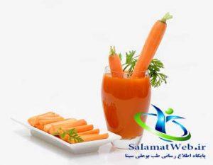 کنترل وزن با آب هویج