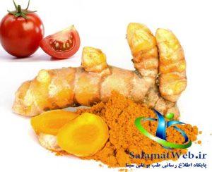 ترکیب زردچوبه و گوجه فرنگی برای درمان آکنه