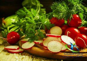 تربچه سبزی کم کالری