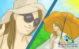 درمان خشکی پوست صورت در تابستان