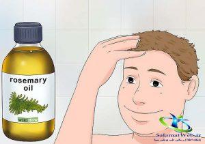 تقویت موی سر با روغن رزماری