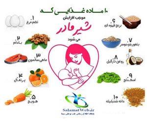 افزایش شیر مادر با طب اسلامی