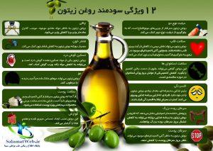 فواید درمانی روغن زیتون