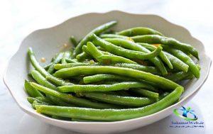 لوبیا سبز پخته