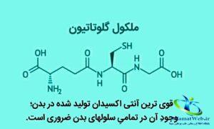 ساختار شیمیایی گلوتاتیون
