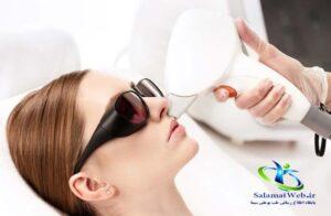 درمان افتادگی پوست با لیزر
