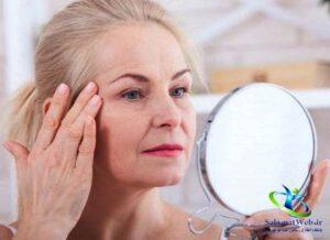 درمان خانگی افتادگی پوست صورت