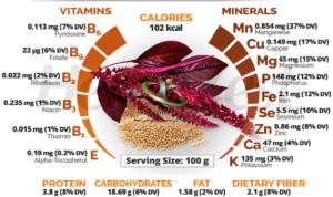 ارزش غذایی گیاه تاج خروس